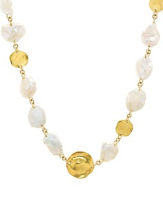 Chan Luu - Cultured Freshwater Pearl Necklace in 18K Gold-Plated Sterling Silver, 16""