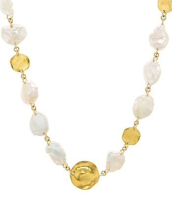 """Chan Luu - Cultured Freshwater Pearl Necklace in 18K Gold-Plated Sterling Silver, 16"""""""