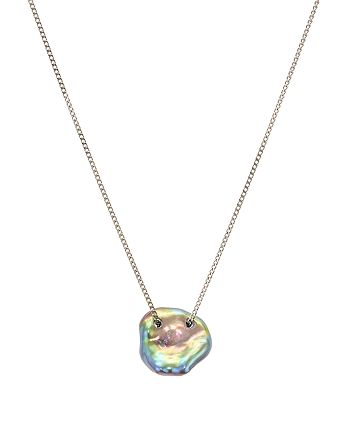 """Chan Luu - Cultured Freshwater Pearl Pendant Necklace in 18K Gold-Plated Sterling Silver or Sterling Silver, 16"""""""