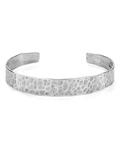 Chan Luu - Hammered Cuff Bracelet in 18K Gold-Plated Sterling Silver or Sterling Silver