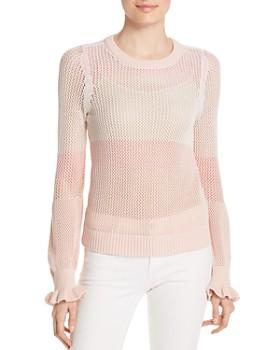 Design History - Color-Block Mesh Sweater