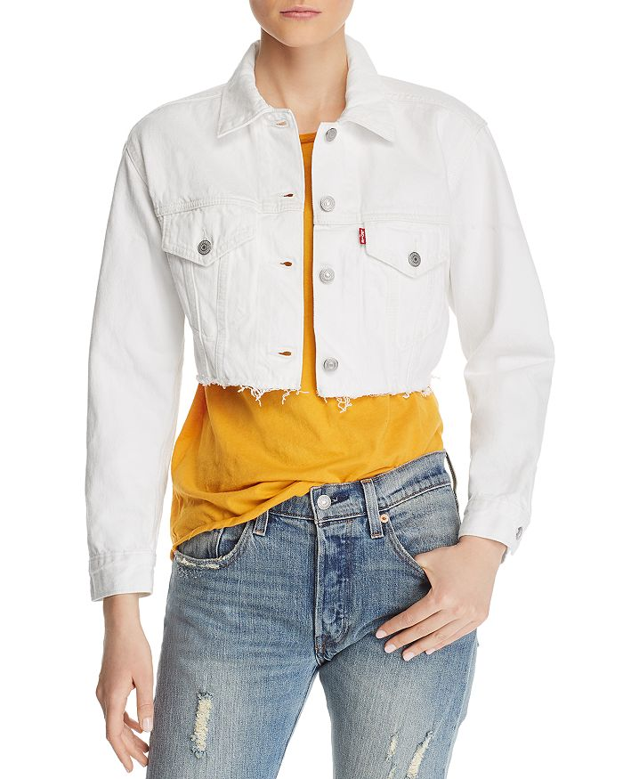 forefront of the times great deals on fashion order Cropped Denim Trucker Jacket