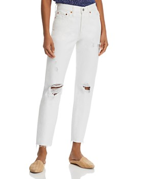 Levi's - Wedgie Icon Tapered Ankle Jeans in Light Relief