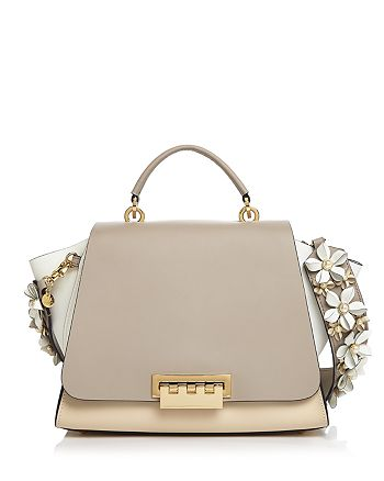 ZAC Zac Posen - Eartha Color-Block Crossbody with Floral Strap