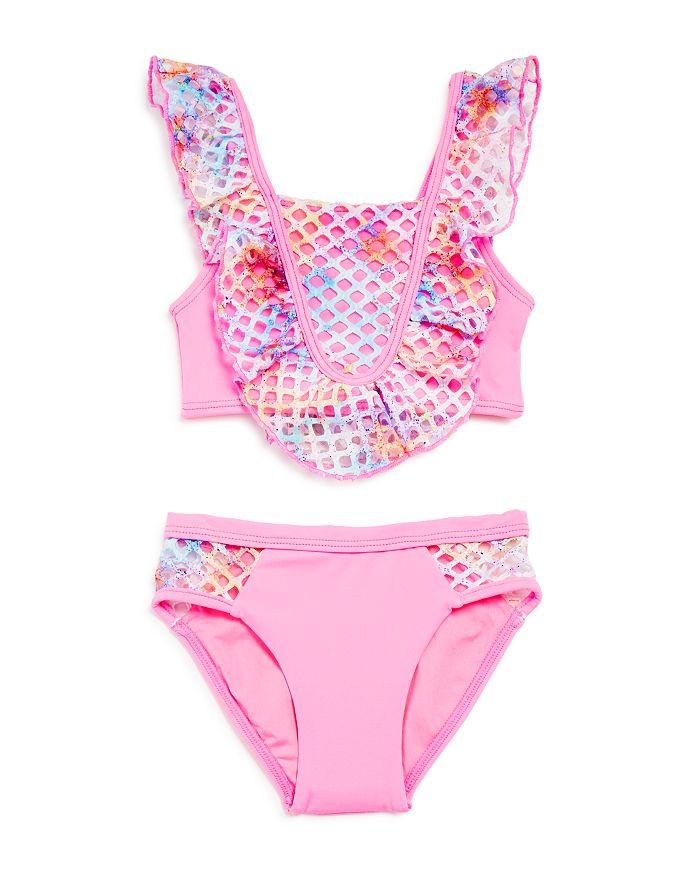Peixoto - Girls' Blake Ruffle & Net Two-Piece Swimsuit - Little Kid, Big Kid