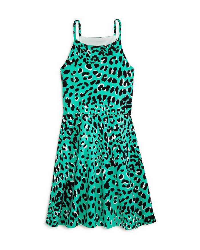 AQUA - Girls' Animal Print Halter Skater Dress, Big Kid - 100% Exclusive