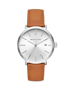 Michael Kors - Blake Brown Leather Strap Watch, 42mm