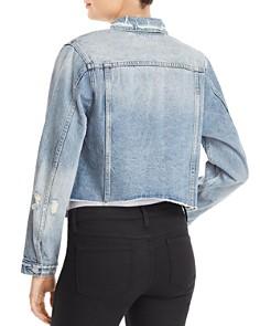 AQUA - Distressed Cropped Denim Jacket - 100% Exclusive