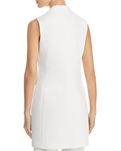 Calvin Klein - Double-Breasted Sleeveless Blazer