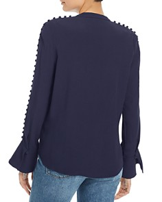 Joie - Abe Button-Embellished Crepe Blouse