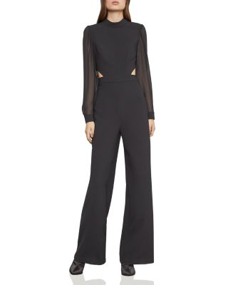 Mixed Media Cutout Jumpsuit by Bcbgmaxazria