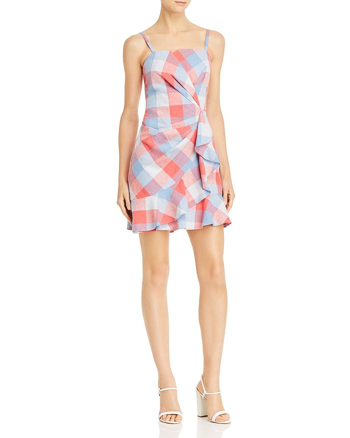 Parker - Flynn Plaid Ruffled Dress