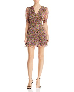 The East Order - Freya Puff-Sleeve Floral Mini Dress