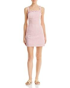 Lost and Wander - Mimosa Ruffled Gingham Mini Dress
