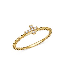 Bloomingdale's - Diamond Cross Band in 14K Yellow Gold, 0.05 ct. t.w. - 100% Exclusive