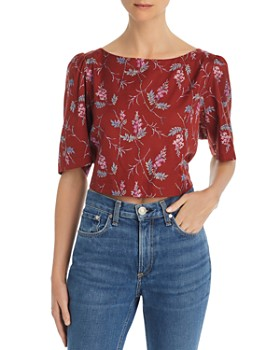 fcd4d4fbeb3be8 Rebecca Taylor - Ivie Floral-Print Knot-Back Top ...