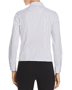 Elie Tahari - Katarina Striped Tie-Front Shirt - 100% Exclusive