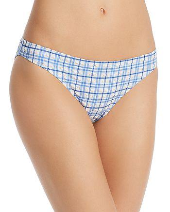 Tory Burch - Plaid Hipster Bikini Bottom