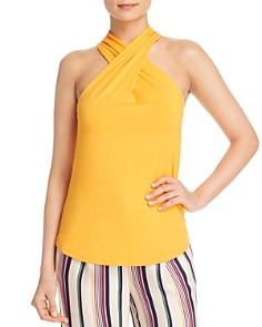 KAREN MILLEN - Crisscross Jersey Top - 100% Exclusive