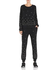 Beach Riot - Embellished Leopard Sweatshirt & Sweatpants