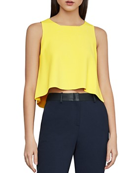 fb53d8c1fa46f BCBGMAXAZRIA - Slit-Back Crop Top BCBGMAXAZRIA - Slit-Back Crop Top. Quick  View