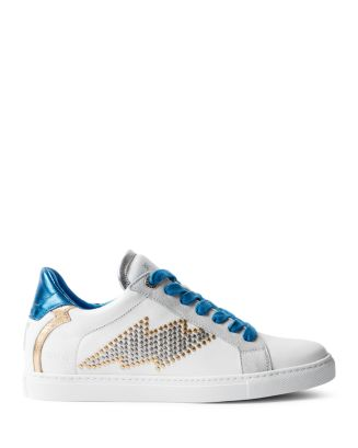 Women's Zv1747 Flash Studs Leather Low Top Sneakers by Zadig & Voltaire