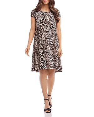 Karen Kane Dresses MAGGIE LEOPARD-PRINT SWING DRESS