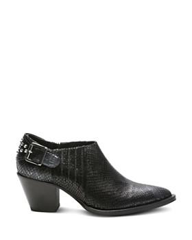 The Kooples - Women's Studded Python-Embossed Leather Ankle Boots