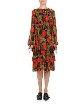 161fbf7f586 The Kooples - Jungle Flowers Printed Midi Dress ...