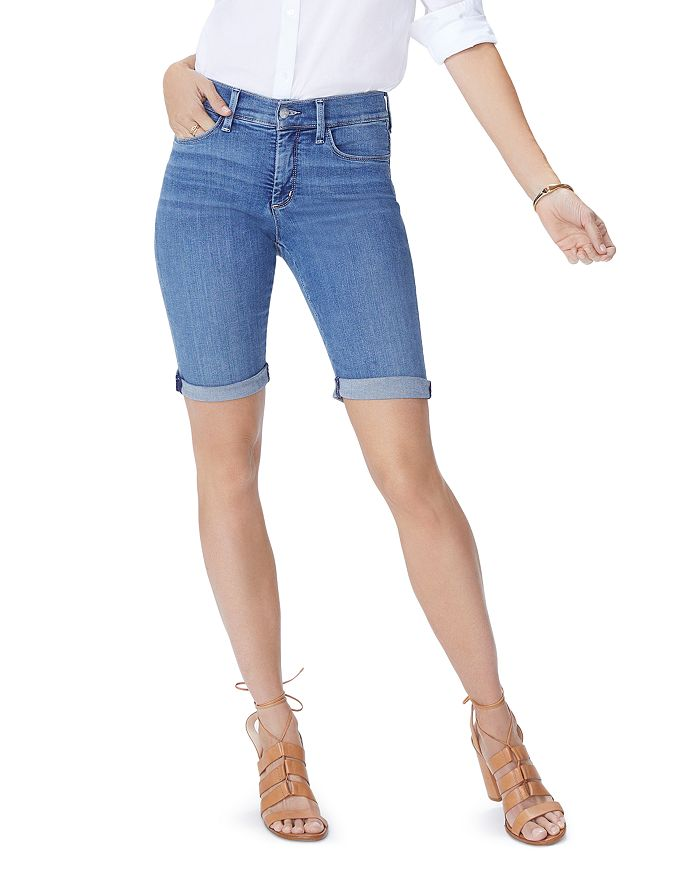 NYDJ - Briella Cuffed Denim Bermuda Shorts in Heyburn