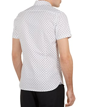 Ted Baker - Polarbe Small Dot Print Slim Fit Shirt