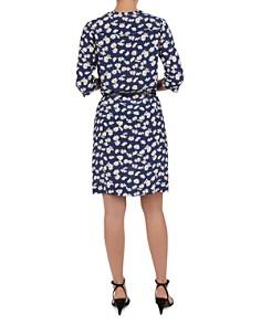 Gerard Darel - Goldie Tie-Detail Floral Silk Dress