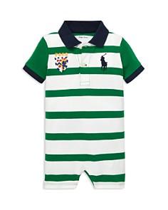Ralph Lauren - Boys' Striped Cotton Polo Shortall - Baby