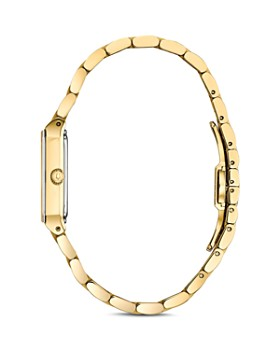 Bulova - Futuro Quadra Gold-Tone Link Bracelet Watch, 20mm x 32mm