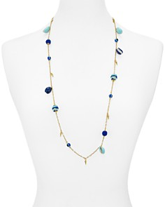 "Rebecca Minkoff - Bead & Shell Chain Necklace, 34"""