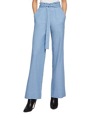 BCBGeneration Plisse Paper Bag Waist Wide-Leg Pants