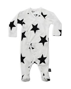 NUNUNU - Unisex Star Footed Envelope Bodysuit - Baby