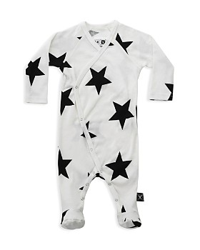 NUNUNU - Unisex Star Footed Envelope Bodysuit - Baby