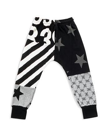 NUNUNU - Unisex Mixed-Print Baggy Pants - Baby