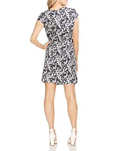 VINCE CAMUTO - Side-Tie Floral-Print Dress