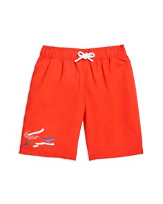 Lacoste - Boys' Croc Swim Trunks - Little Kid, Big Kid