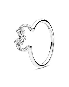 PANDORA - Sterling Silver & Cubic Zirconia Minnie Silhouette Ring