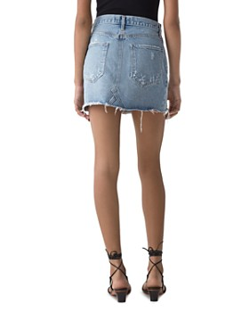 AGOLDE - Quinn Denim Mini Skirt in Swapmeet