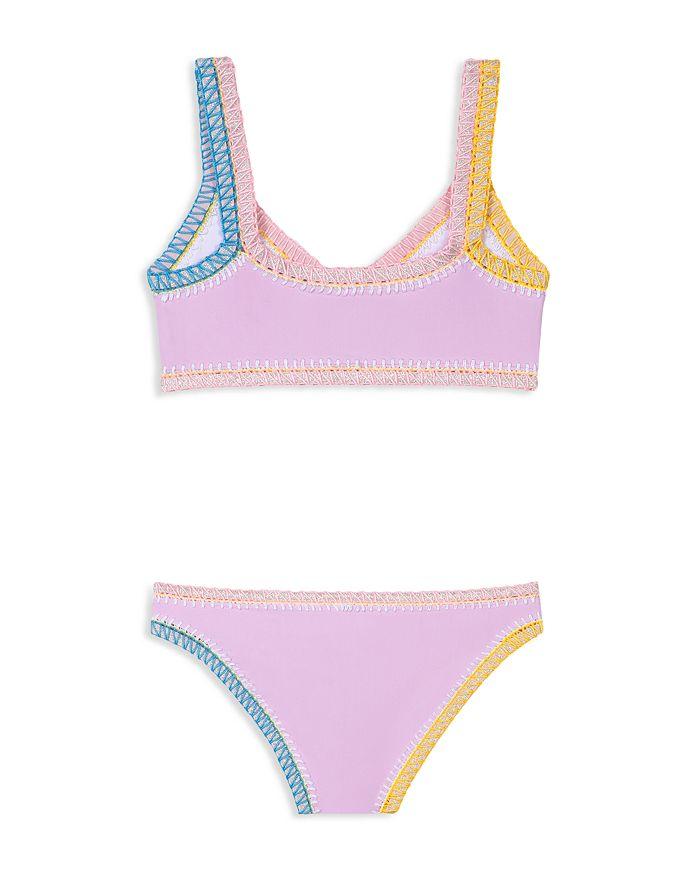 b33c8785bb2 PilyQ - Girls  Sporty Rainbow Two-Piece Swimsuit - Little Kid