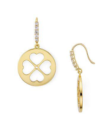 kate spade new york - Clover Heart Earrings