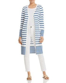 Sioni - Striped Open Duster Cardigan
