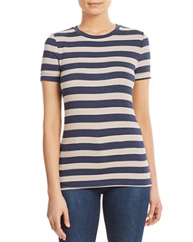 a2a75158c21c Three Dots - Short-Sleeve Striped Knit Top ...