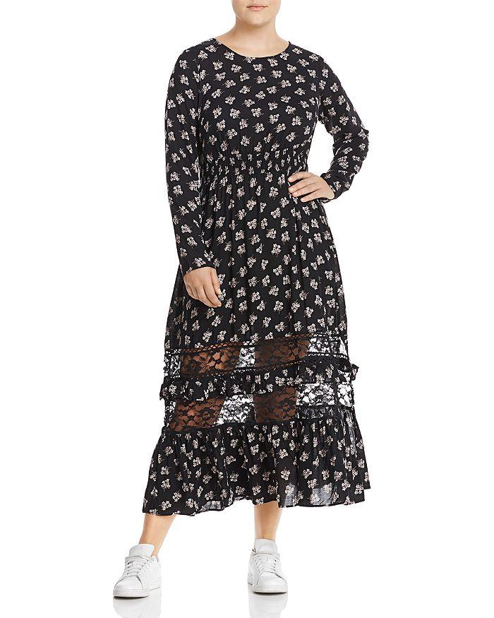 Lost Ink Plus - Floral-Print Maxi Dress