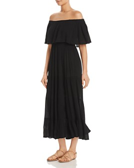 Elan - Off-the-Shoulder Crepe Maxi Dress