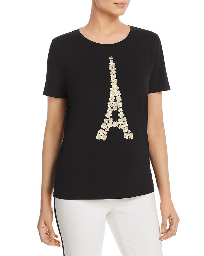 KARL LAGERFELD Paris - Floral-Appliqué Eiffel Tower Tee